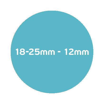 18-25mm – 12mm