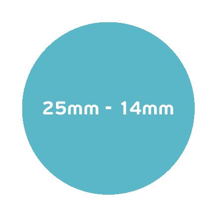 25mm – 14mm