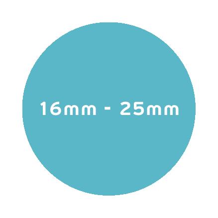16mm – 25mm
