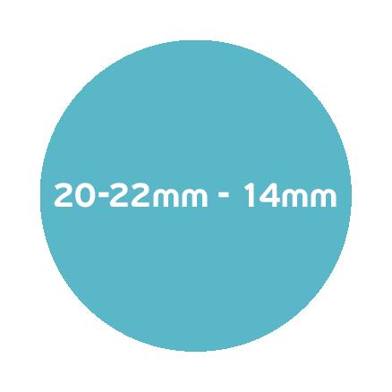 20-22mm – 14mm